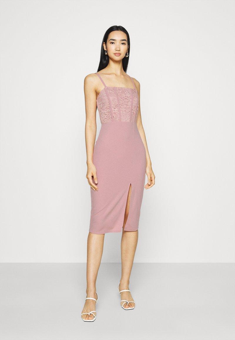 WAL G. - LIZZY MIDI DRESS - Sukienka z dżerseju - blush pink
