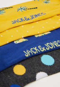 Jack & Jones - JACYELLOW MIX SOCKS 4 PACK - Socks - dark grey melange/persimmon orange - 2