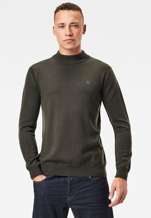 PREMIUM CORE MOCK TURTLE LONG SLEEVE - Stickad tröja - asfalt