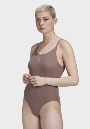 RIBBED BODYSUIT - Body - brown