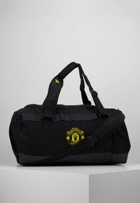 adidas Performance - MANCHESTER UNITED FC - Sportovní taška - black/solar grey/bright yellow - 0