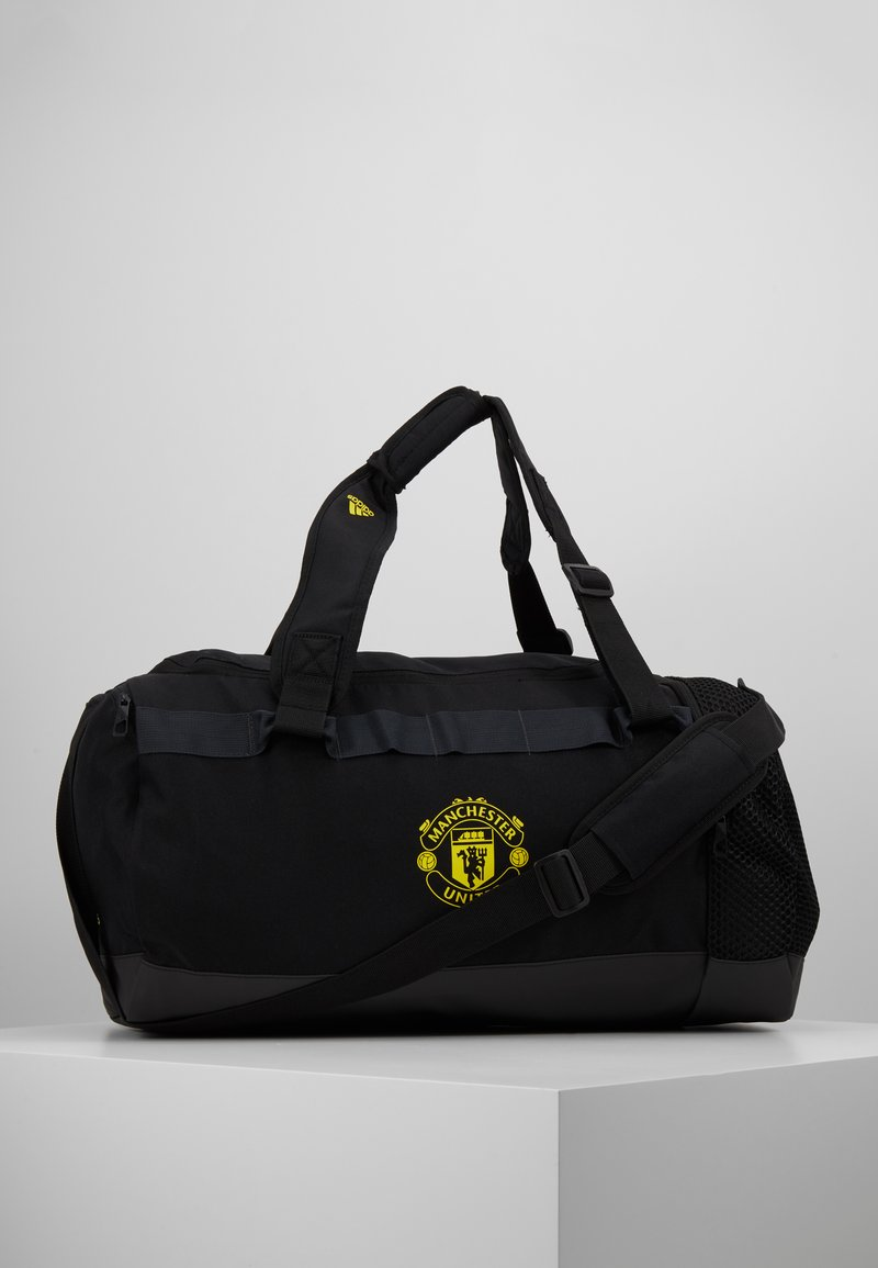 adidas Performance - MANCHESTER UNITED FC - Sportovní taška - black/solar grey/bright yellow