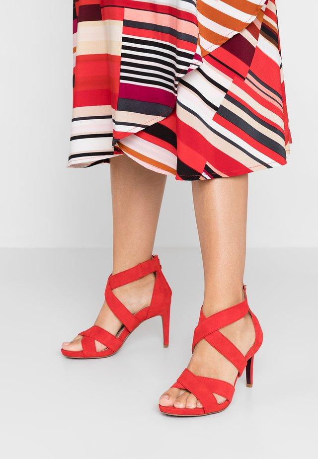 High Heel Sandalette - red