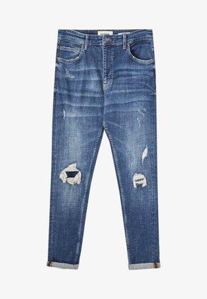 Jean slim - mottled royal blue