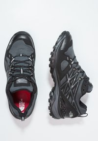 The North Face - HEDGEHOG FASTPACK GTX - Hiking shoes - black/high rise grey - 1