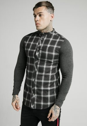 CHECK GRANDAD - Shirt - charcoal