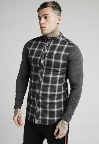 CHECK GRANDAD - Skjorta - charcoal