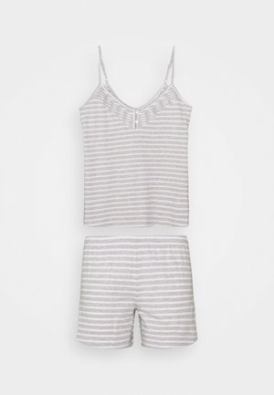 CAMI STRIPE  SET - Pyjamas - grey