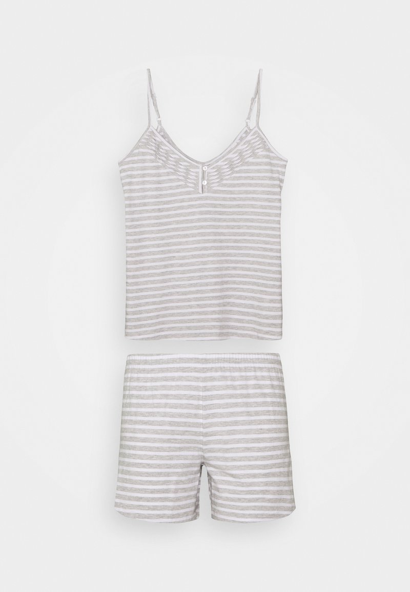 Marks & Spencer London - CAMI STRIPE  SET - Pyjamas - grey