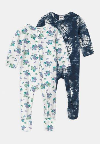 LONG SLEEVE ZIP 2 PACK  - Sleep suit - frosty blue/blue bird