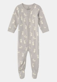 Lindex - FOOT RABBITS UNISEX - Sleep suit - light grey - 0