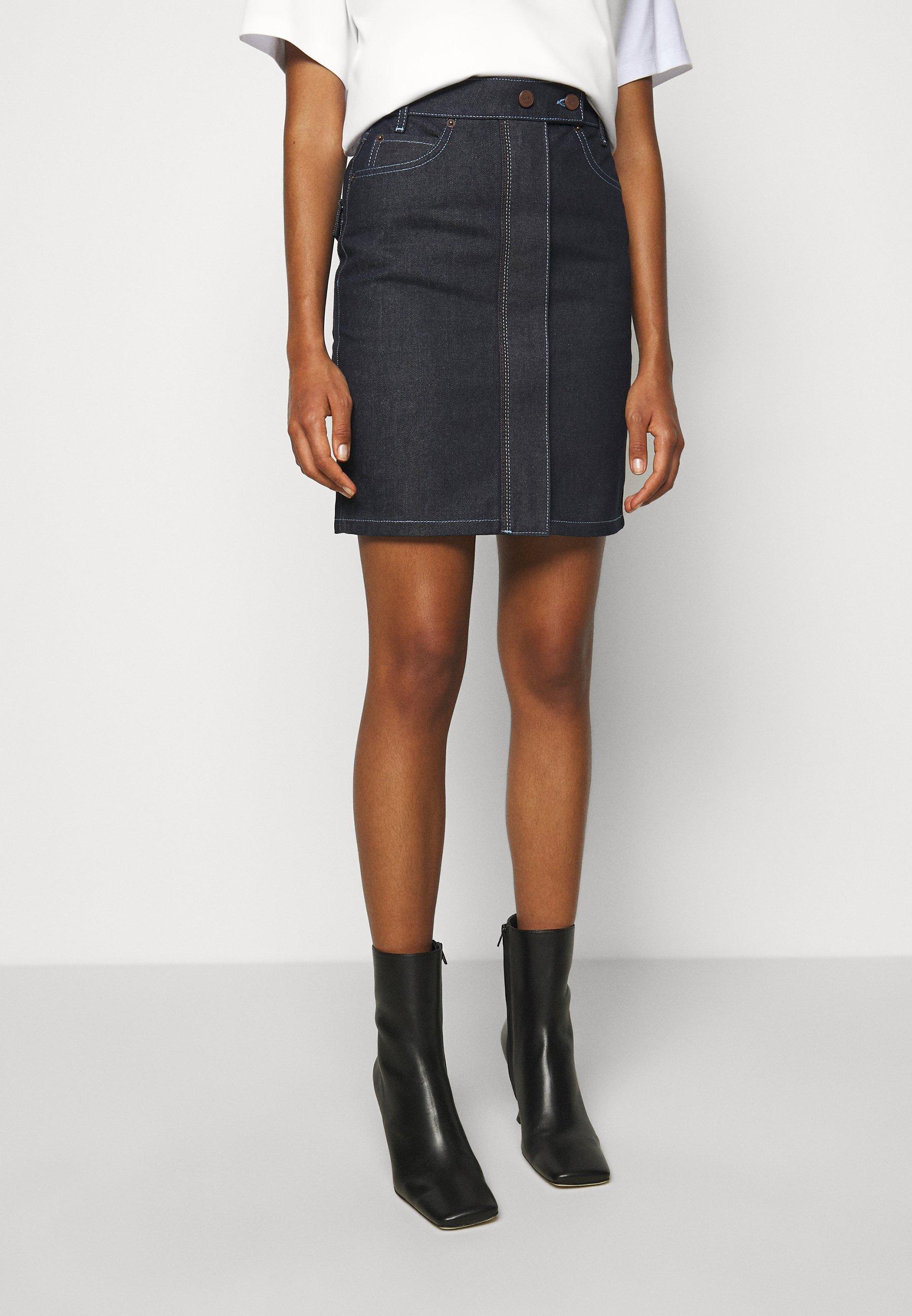 Femme RAINBOW STITCH  SKIRT - Jupe en jean