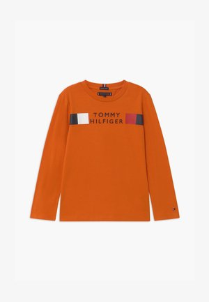 GLOBAL STRIPE TEE - Long sleeved top - orange