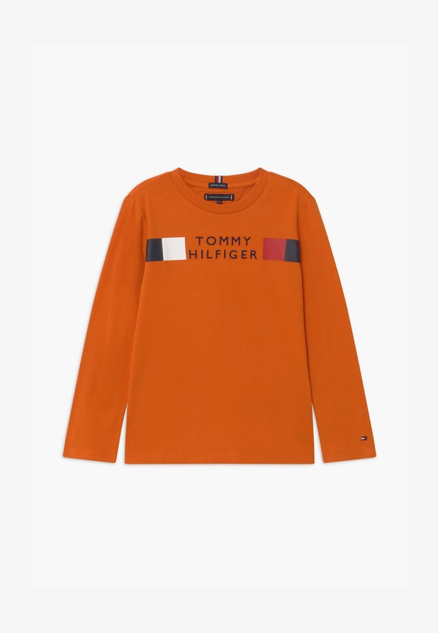 GLOBAL STRIPE TEE - Maglietta a manica lunga - orange