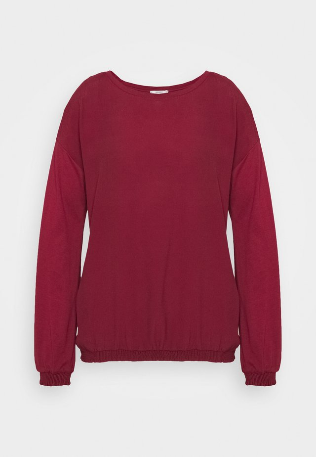 BUBBLE TEE - Bluzka - bordeaux red