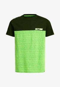 WE Fashion - T-shirt print - green, black - 3