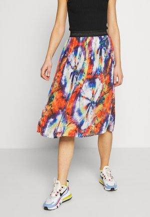 DORA - Áčková sukně - multi