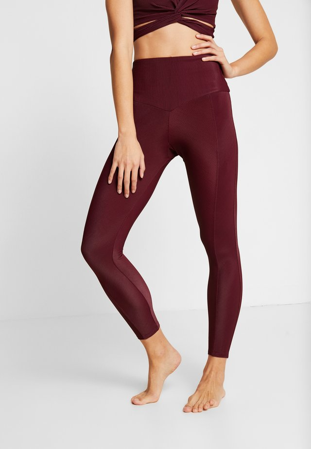 SWEETHEART MIDI - Leggings - fig rib