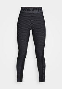 Nike Performance - Leggings - black/white/metallic silver - 5