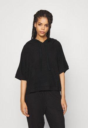 COZY LOUNGE HOODIE - Pyjama top - black