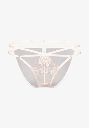 GRACE BLUSH EMBROIDERED BRIEF - Briefs - cream