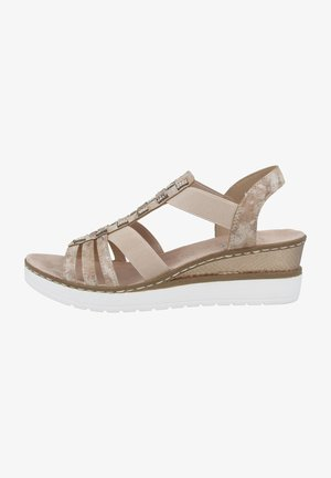 Wedge sandals - rose