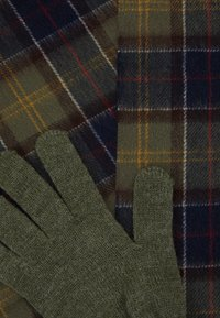 Barbour - TARTAN SCARF AND GLOVE GIFT SET UNISEX - Scarf - classic/olive - 6