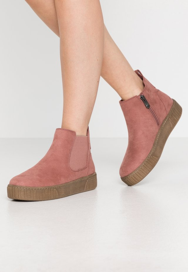 Ankle boots - old rose