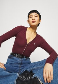 Abercrombie & Fitch - COZY HENLEY  - Long sleeved top - burgundy - 3