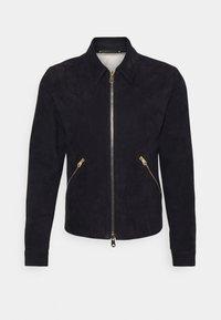 Paul Smith - JACKET - Leren jas - dark blue - 3