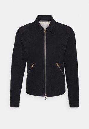 JACKET - Leather jacket - dark blue