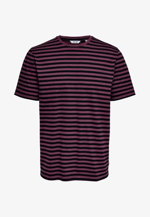 ONSJAMIE LIFE SS STRIPE REG TEE NOO - Print T-shirt - zinfandel