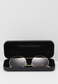 Alexander McQueen - SUNGLASS UNISEX - Occhiali da sole - gold-coloured/brown - 3
