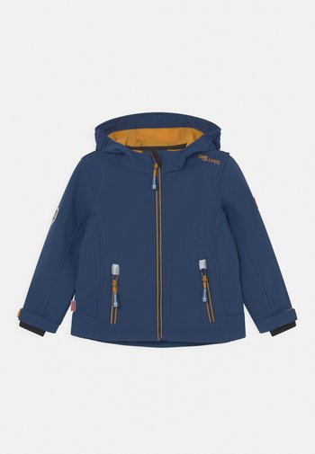 TROLLFJORD UNISEX - Soft shell jacket - mystic blue/golden yellow