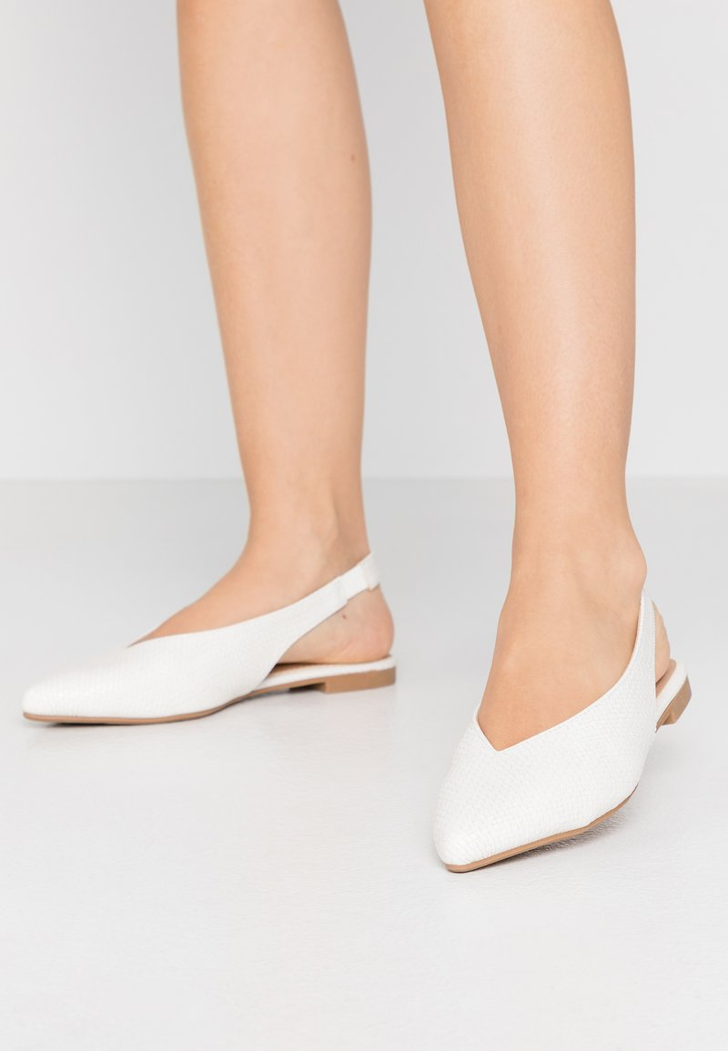 Head over Heels by Dune - HATTY - Slingback ballet pumps - white