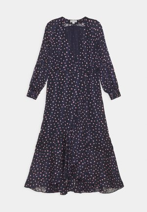 SPOT WRAP DRESS - Denní šaty - dark blue