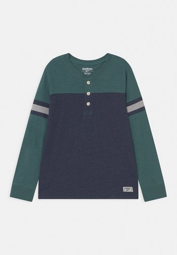 COLORBLOCK HENLEY - Maglietta a manica lunga - blue