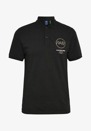 GS RAW GRAPHIC SLIM - Polo shirt -  black