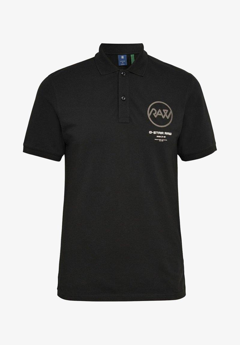 G-Star - GS RAW GRAPHIC SLIM - Polo shirt -  black
