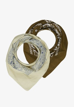BANDANA 2 PACK - Šátek - beige/brown