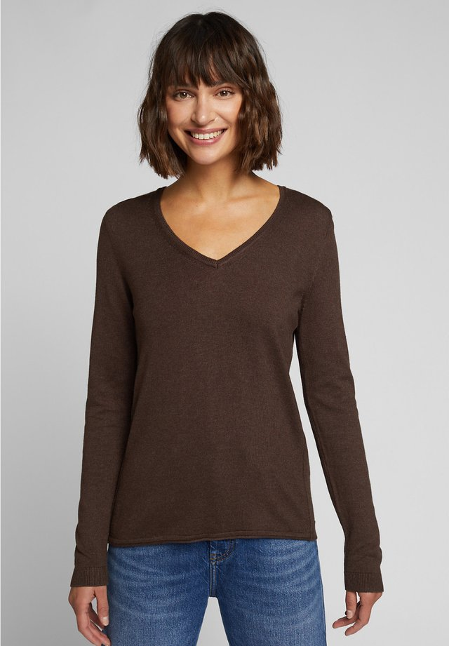 Jumper - dark brown