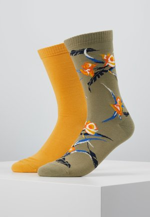 REGULAR CUT TROPICAL 2PACK - Socks - khaki