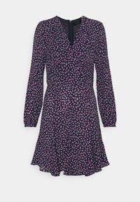 Lauren Ralph Lauren Petite - LYNZANA LONG SLEEVE CASUAL DRESS - Robe d'été - french navy multi - 0