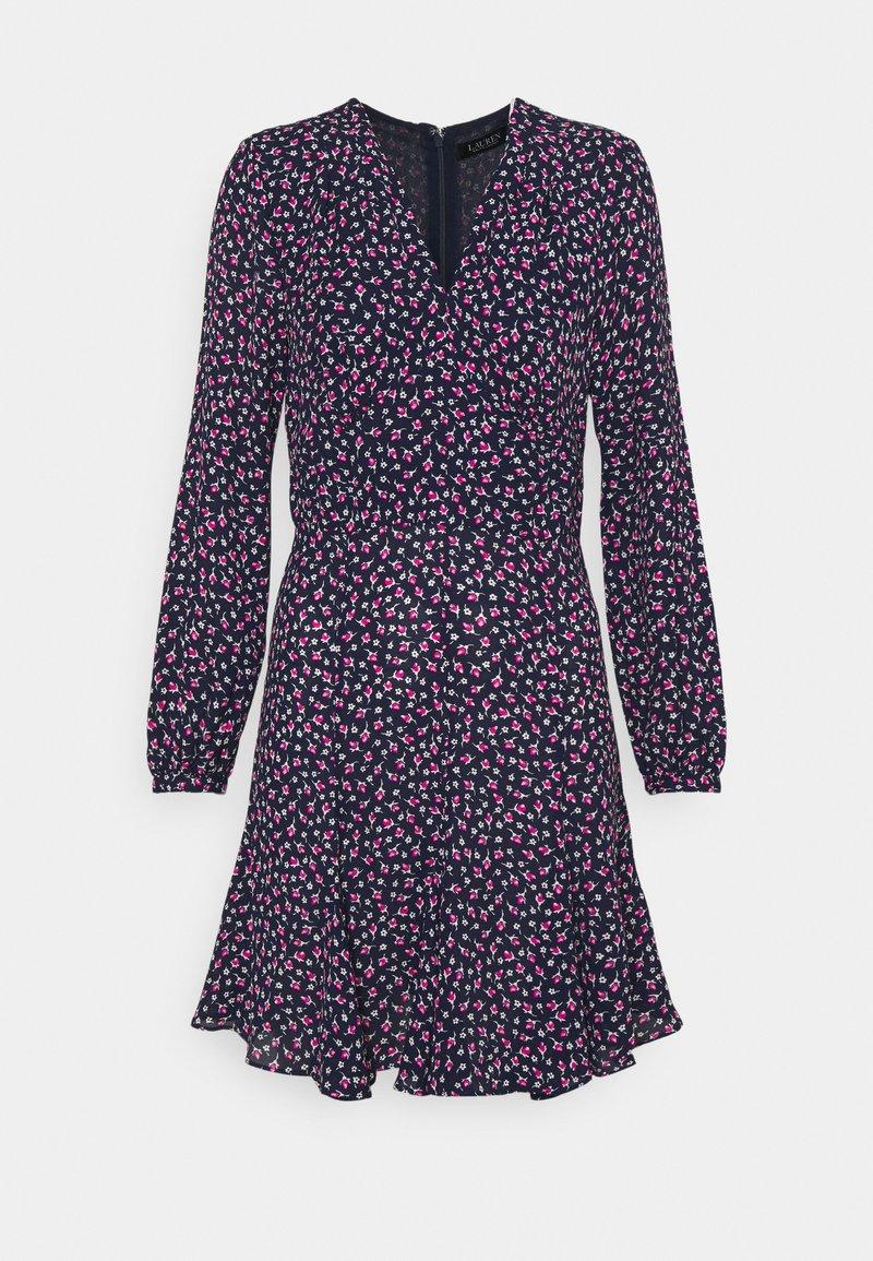 Lauren Ralph Lauren Petite - LYNZANA LONG SLEEVE CASUAL DRESS - Robe d'été - french navy multi