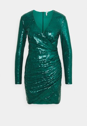 BODY WRAP DRESS - Cocktail dress / Party dress - green