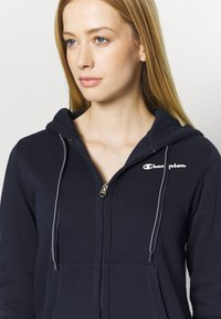 Champion - HOODED FULL ZIP - Jersey con capucha - dark blue - 4
