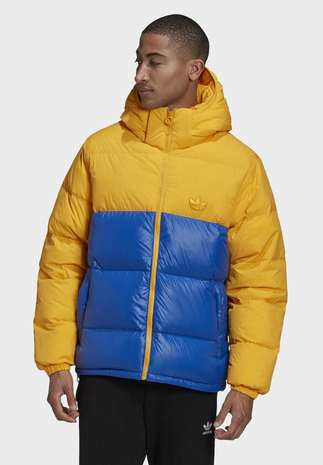 DOWN REGEN HOODED BLOCKED PUFFER JACKET - Doudoune - yellow