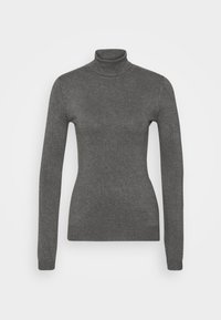 Anna Field - BASIC- TURTLE NECK - Strikkegenser - dark grey - 5