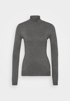 BASIC- TURTLE NECK - Strikkegenser - dark grey