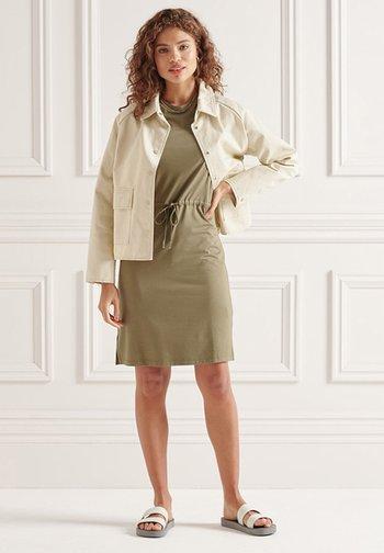 Jersey dress - moss khaki
